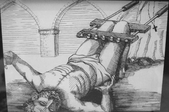 Орудие пытки- коленодробилка